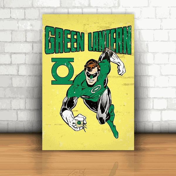 Placa Decorativa - Lanterna Verde Quadrinhos