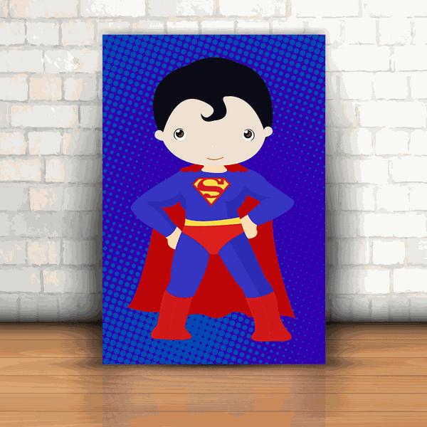 Placa Decorativa - Superman Kids