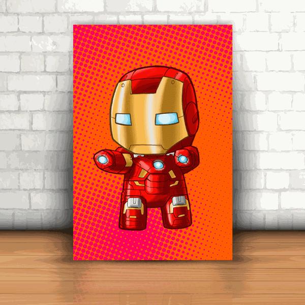 Placa Decorativa - Homem de Ferro Kids