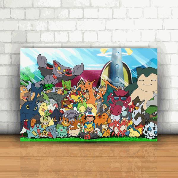 Placa Decorativa - Pokémon Personagens