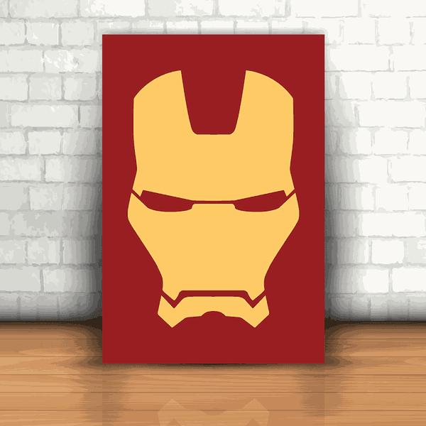 Placa Decorativa - Homem de Ferro Logo