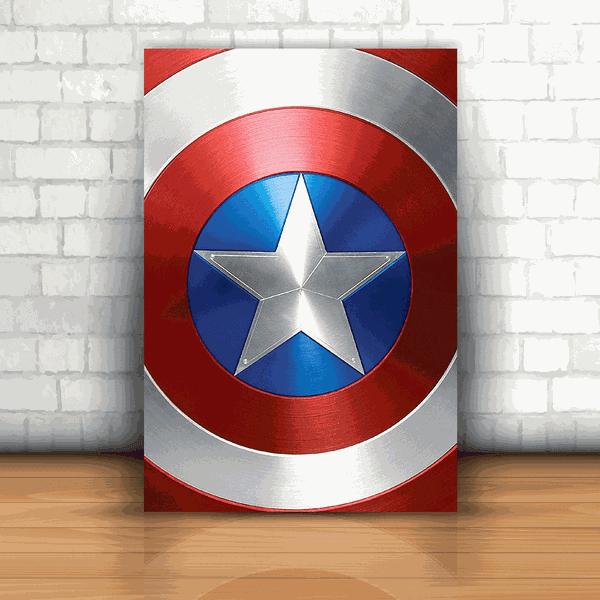 Placa Decorativa - Capitão América Logo