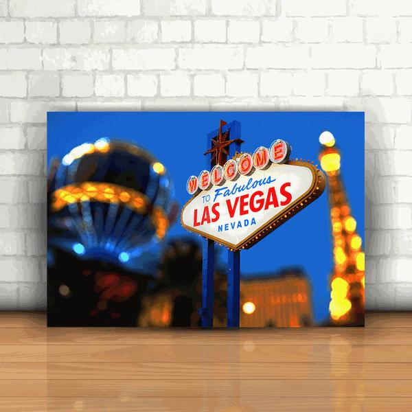 Placa Decorativa - Las Vegas USA