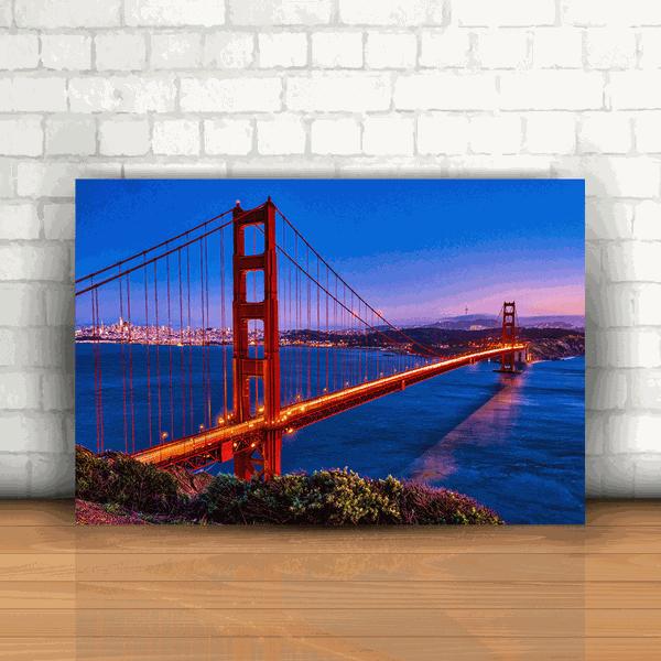 Placa Decorativa - Ponte San Francisco Califórnia