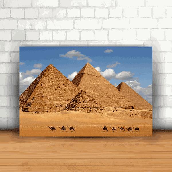 Placa Decorativa - Pirâmides Egípcias