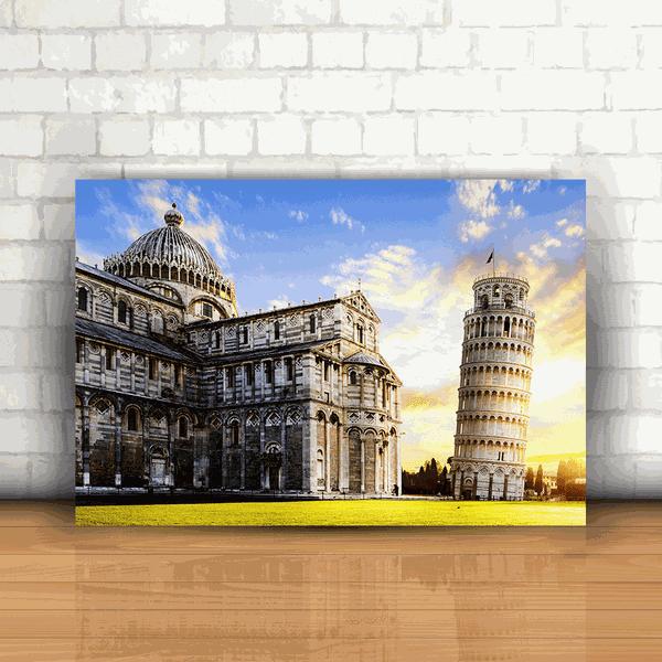 Placa Decorativa - Torre de Pisa Itália