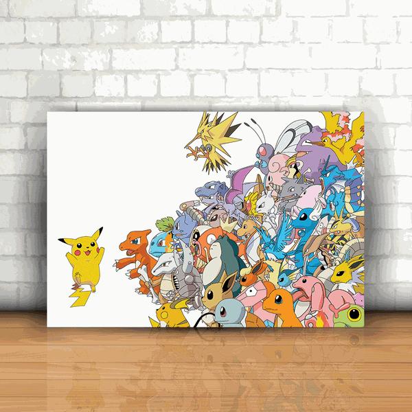 Placa Decorativa - Pokémon Pikachu Lider