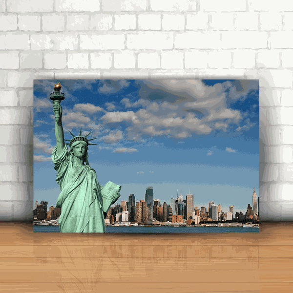 Placa Decorativa - Estátua da Liberdade Nova York