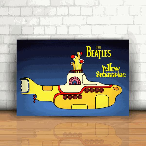 Placa Decorativa - The Beatles Yellow Submarine