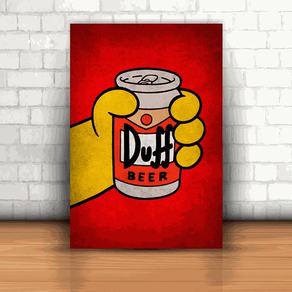 Placa Decorativa - Duff Latinha