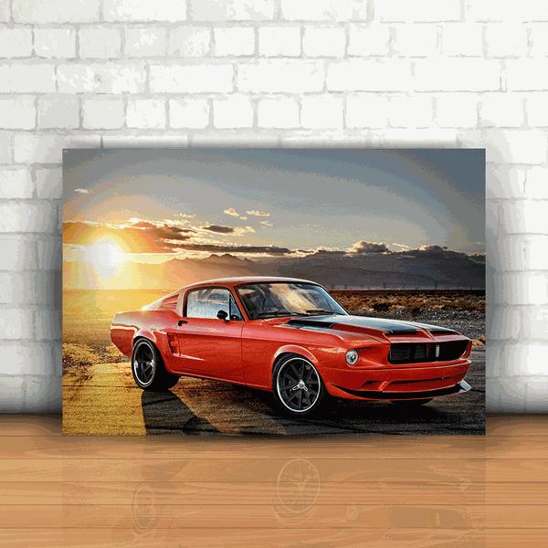 Placa Decorativa - Mustang 1968