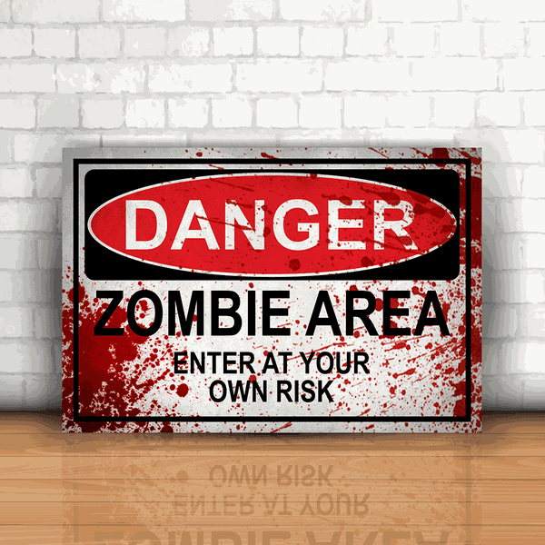 Placa Decorativa - Danger Zombie Area