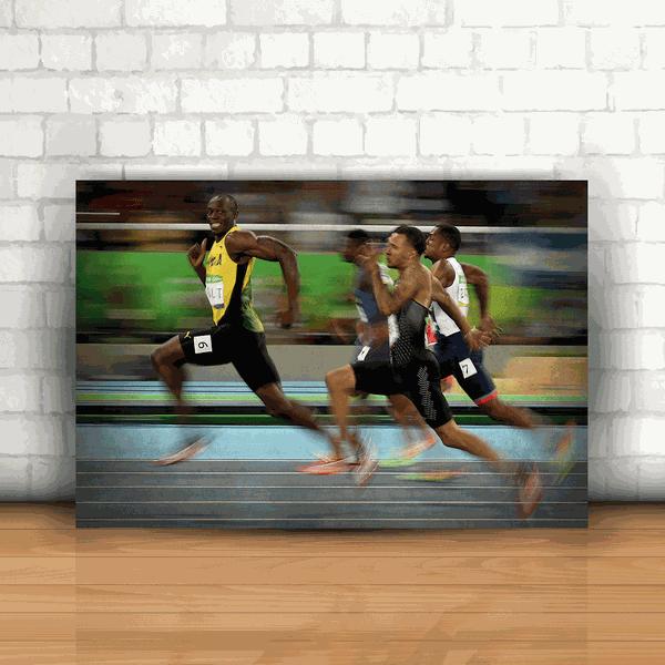Placa Decorativa - Usain Bolt