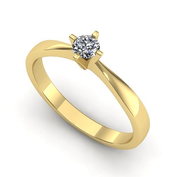 Anel Solitário de Diamante São Luís