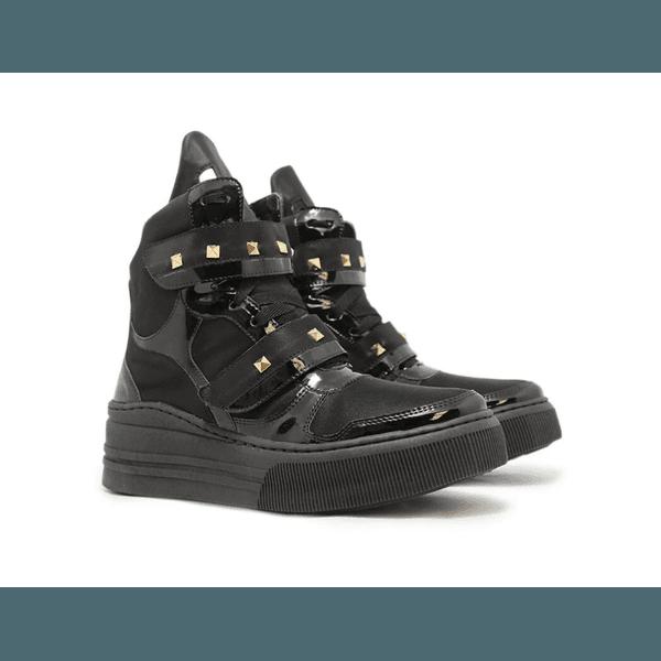 Tênis Sneaker Crossfit Preto Com Verniz Preto