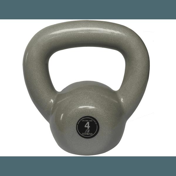 Kettlebell Emborrachado 4 Kg Crossfit Treinamento Funcional Musculação