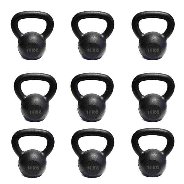 Kit 10 Kettlebell Pintado 14 Kg Crossfit Treinamento Funcional Musculação