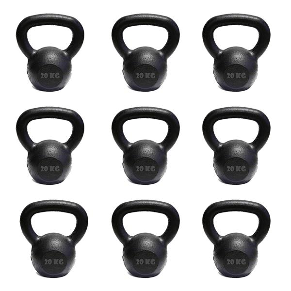Kit 10 Kettlebell Pintado 20 Kg Crossfit Treinamento Funcional Musculação