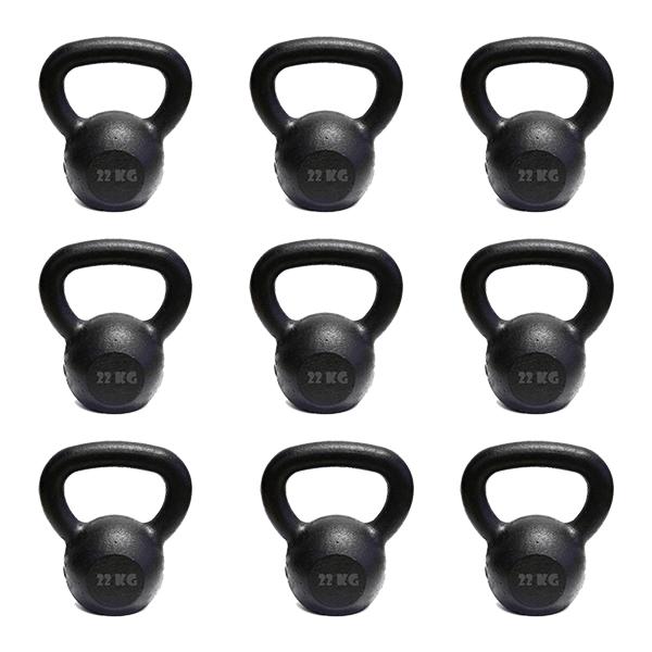 Kit 10 Kettlebell Pintado 22 Kg Crossfit Treinamento Funcional Musculação