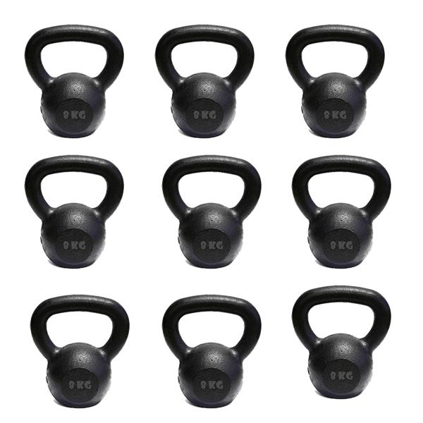 Kit 10 Kettlebell Pintado 8 Kg Crossfit Treinamento Funcional Musculação