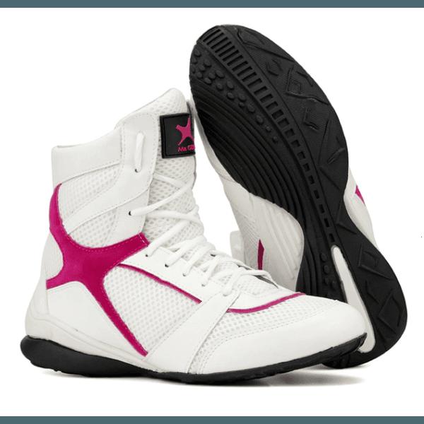 Bota Treino Fitness Feminina Mr. Gutt Original Branco com Rosa