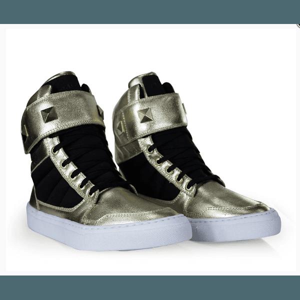 Tênis Bota Treino Sneaker Feminino Fitness Academia Dourado