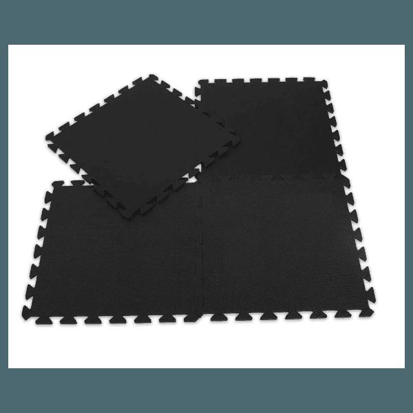 Kit 30 Placas de Tatame Piso Eva Tapete De Encaixe 100x100x1cm Preto