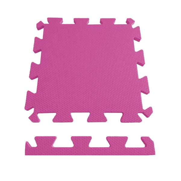 Tatame Piso Eva Tapete De Encaixe 50x50x1cm Rosa Pink