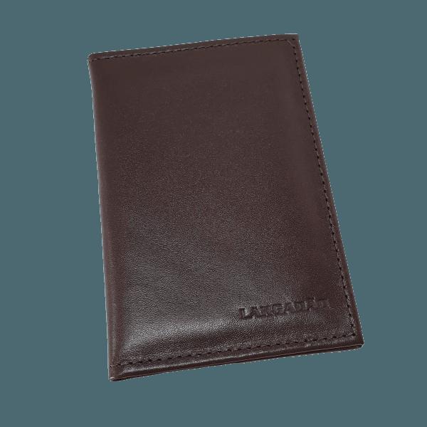 Carteira em couro porta documento tradicional.