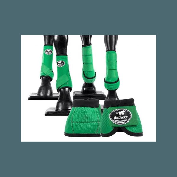 Kit Completo Cloche e Caneleiras Color Verde Escuro Boots Horse 4374
