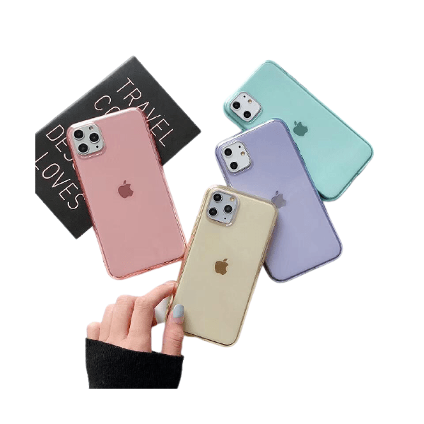 Case Clear Colors - Iphone XR
