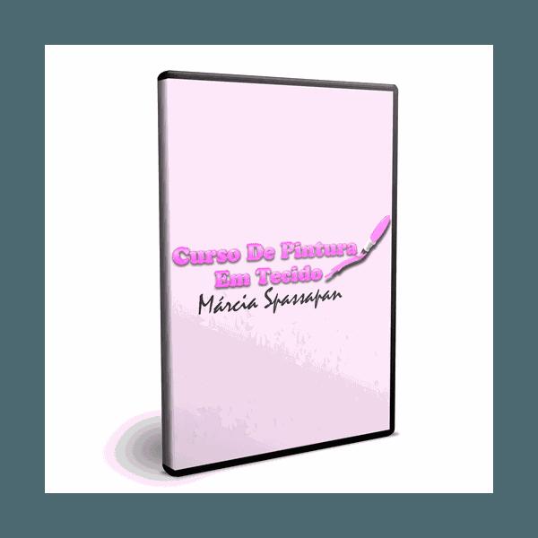 DVD Curso de Pintura em Tecido Márcia Spassapan
