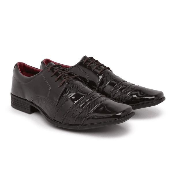 Sapato Social Masculino Em Verniz Café 840