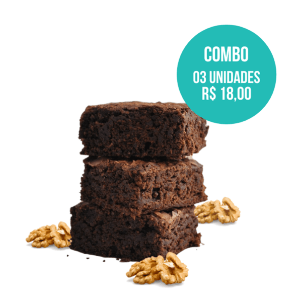 combo brownie vegano 03 unidades (60g) mr. veggy