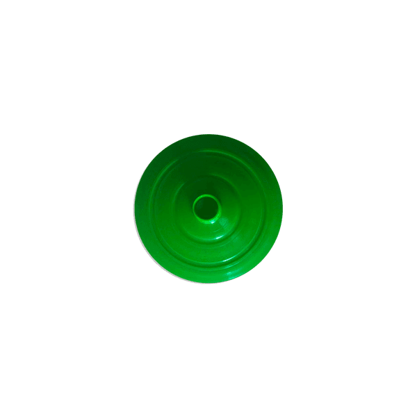 Tampa para Copo Long 350ml c/ canudo - Caixa com 50 tampas e canudos Transparentes |VERDE