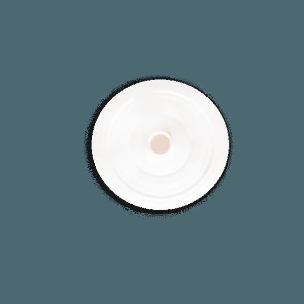 Tampa para Copo Long 350ml c/ canudo - Caixa com 50 tampas e canudos Transparentes | BRANCO