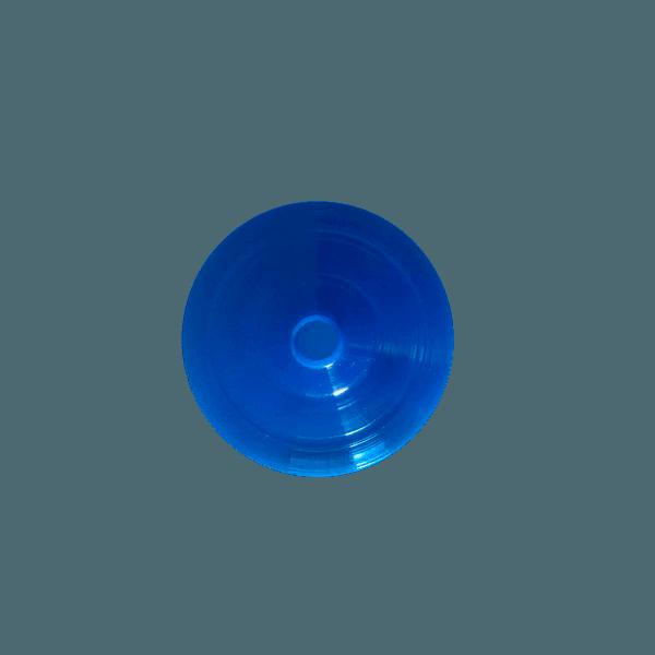 Tampa para Copo Twister 700ml c/ canudo - Caixa com 50 tampas e canudos Transparentes | AZUL