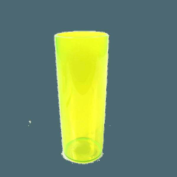 Copo Long Drink Amarelo neon- Caixa com 100 unidades