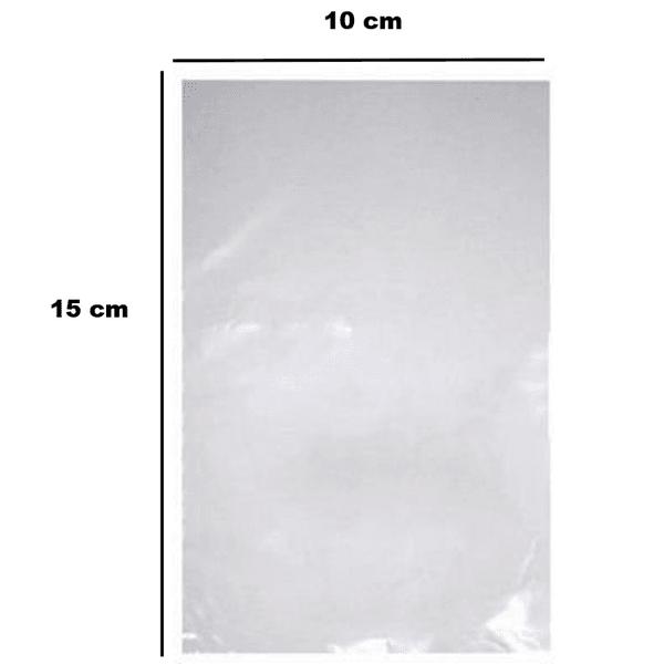 Saco Plástico PE 10x15cm Transparente 1kg-006 loja embalagens sabrina