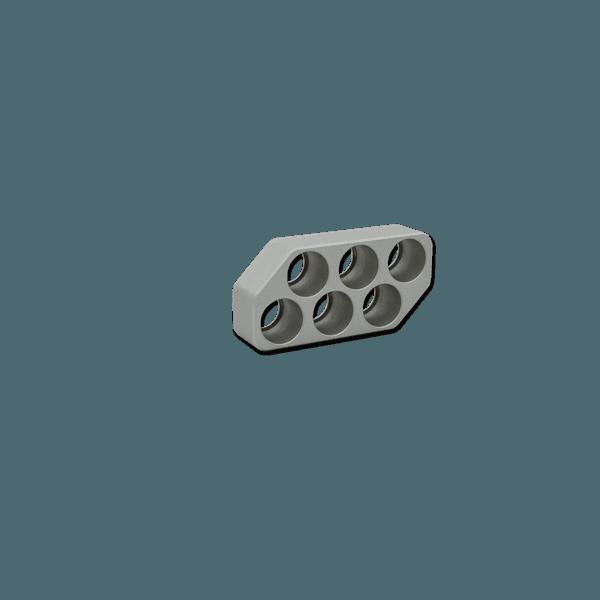Bloco para microtubos WTA - 6 x 1,2 mL