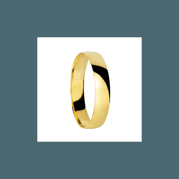 Aliança de ouro 18k polida