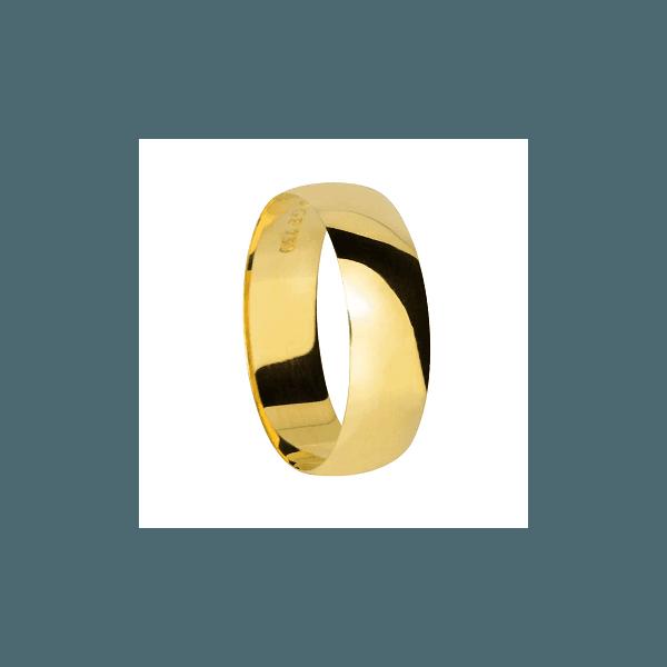 Aliança de Ouro Grossa Barata