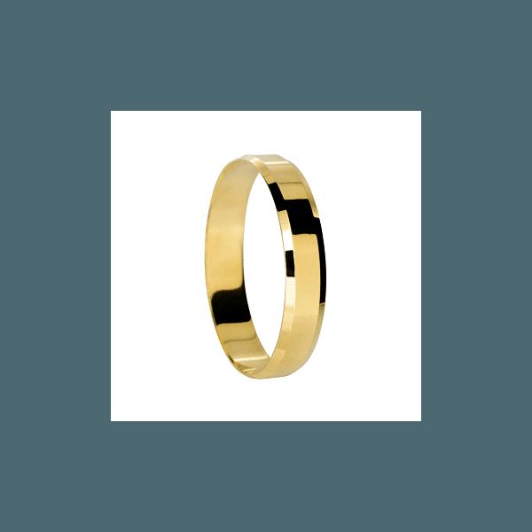 Aliança de Ouro Quadrada