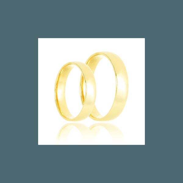 Aliança de ouro clássica