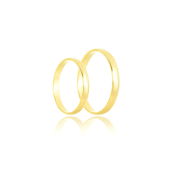 Aliança de ouro lisa
