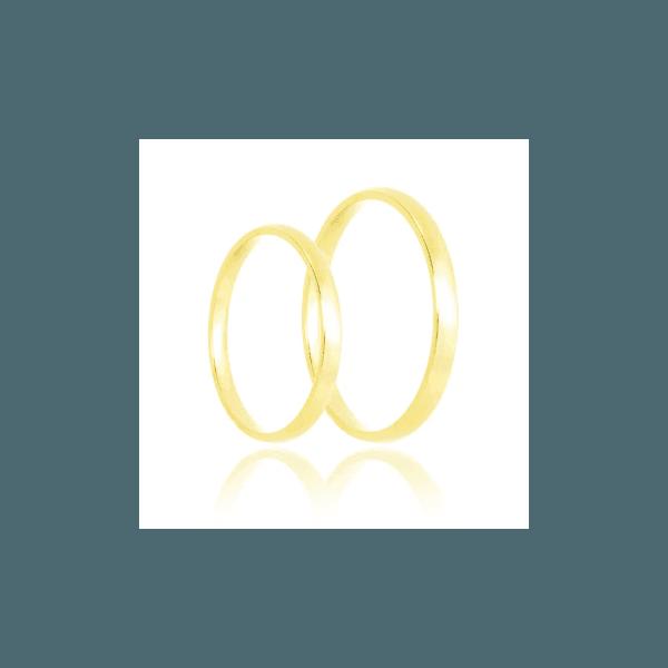 Aliança de ouro tradicional