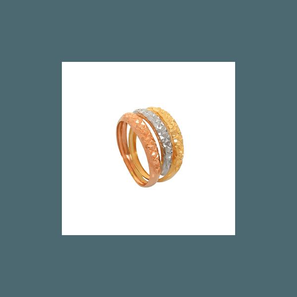 Anél de Ouro Três Tons