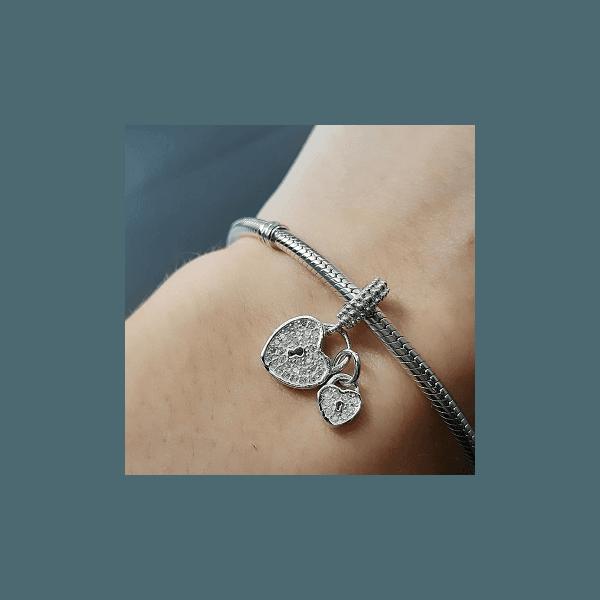 Berloque de Coração com fechadura