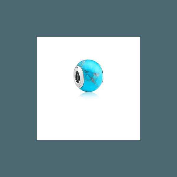 Berloque Murano Azul Turquesa