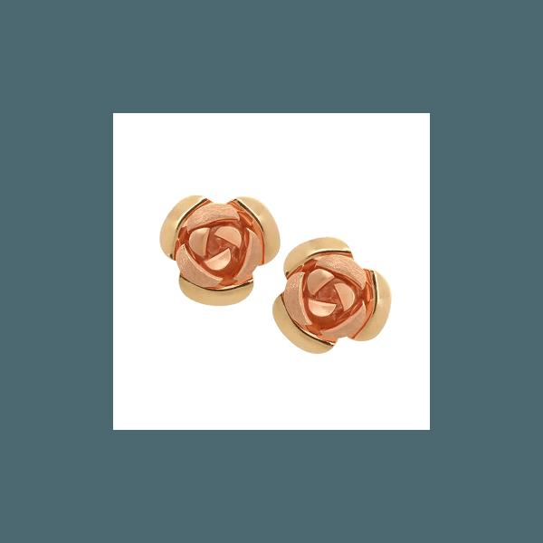 Brinco de Ouro Amarelo e Rosê
